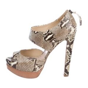 Miu Miu Snakeskin Platform Sandals Size: 8 | IT 38